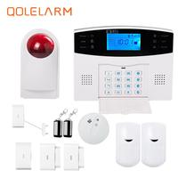 Russian Italian Czech Gsm Home Alarm System Wireless Outdoor Strobe Siren Alarm Systems Security Home Panic