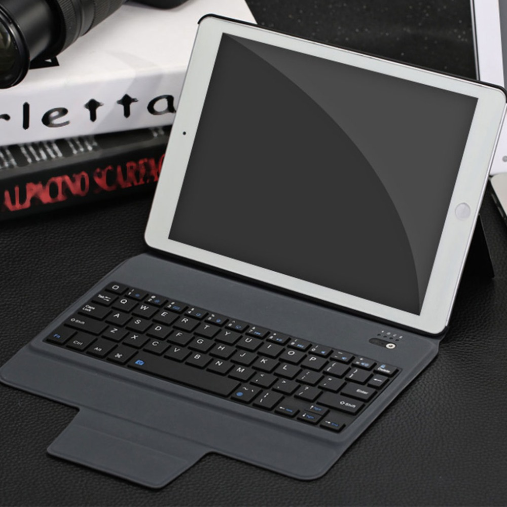 Smart Bluetooth Keyboard Cover Case With Multi-Angle Stand Intelligent Switch For iPad Air/Air 2/Pro 9.7 Inch Tablet PC universal pu leather case for 9 7 inch 10 inch 10 1 inch tablet pc stand cover for ipad 2 3 4 air 2 for samsung lenovo tablets