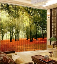 decorative home decor auturn scenery landscape bedroom blackout curtains home bedroom decoration