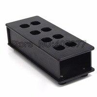 HIFI EUA AC Power Strip Bar Distribuidor De Alumínio 8 Caixa de Tomada HIFI Chassis preto