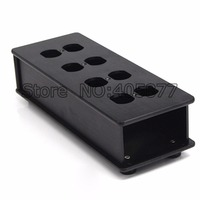 HIFI US AC Power Strip Bar Distributor Aluminum 8 Outlet Box HIFI Chassis black