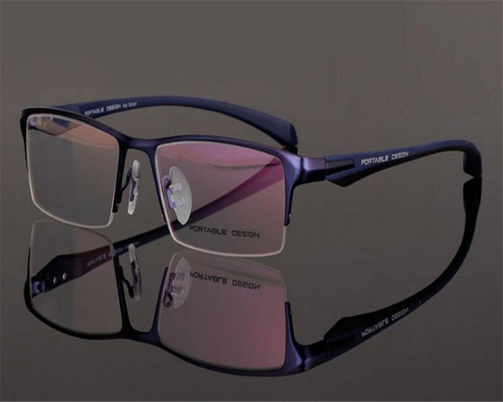 Gentle 55-17-136 Super Light Brand Design Men Alloy Half Rim Progressive Multi-focal Lens Silver Optical Reading Eyeglasses Zjh9065 Bracing Up The Whole System And Strengthening It Apparel Accessories