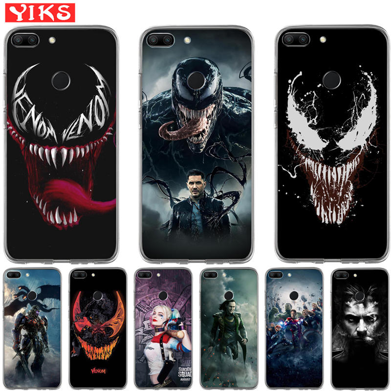 Luxury Marvel Hero venom Case For Huawei Honor 10 9 8 Lite 8X 7 7A 7X 7C 6A 6X Case The Avengers Man Cover Funda Capinha Etui image