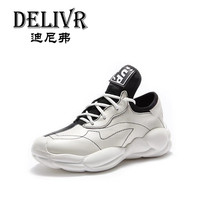 Delivr 2019 Fashion Women Vulcanized Shoes Ladies Dad Shoes Thick Sole Zapatillas Mujer Casual Chunky Shoes Platform Sneakers