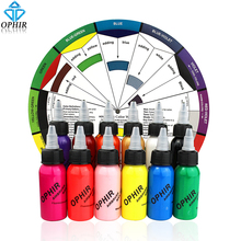OPHIR 12x 30ml/bottle Airbrush Inks for Nail Art  Painting Pigment Airbrushing Kit Colors Tools_TA100(1-12)