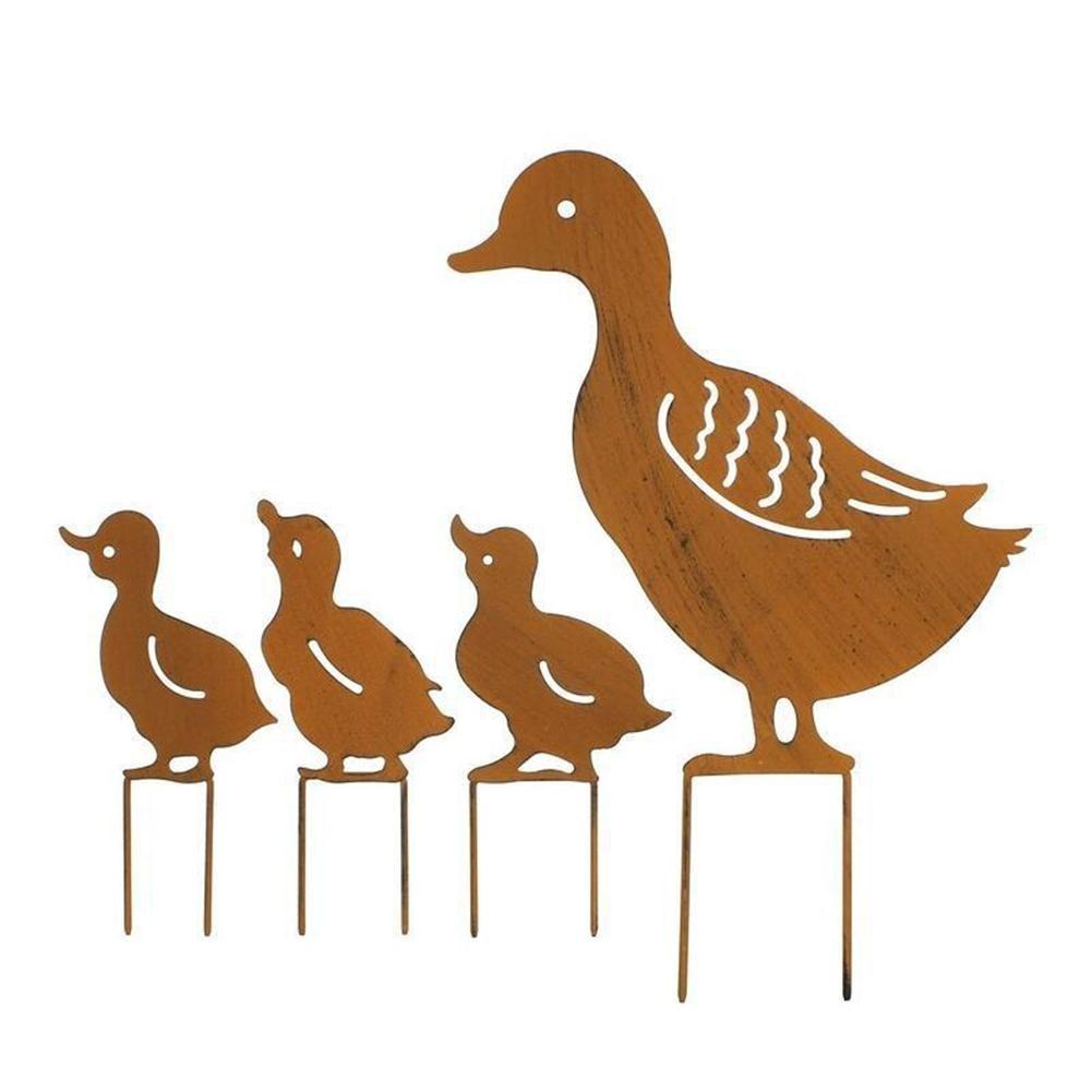 4pcs/lot European Style Iron Art Retor Duck Shape Ornament H