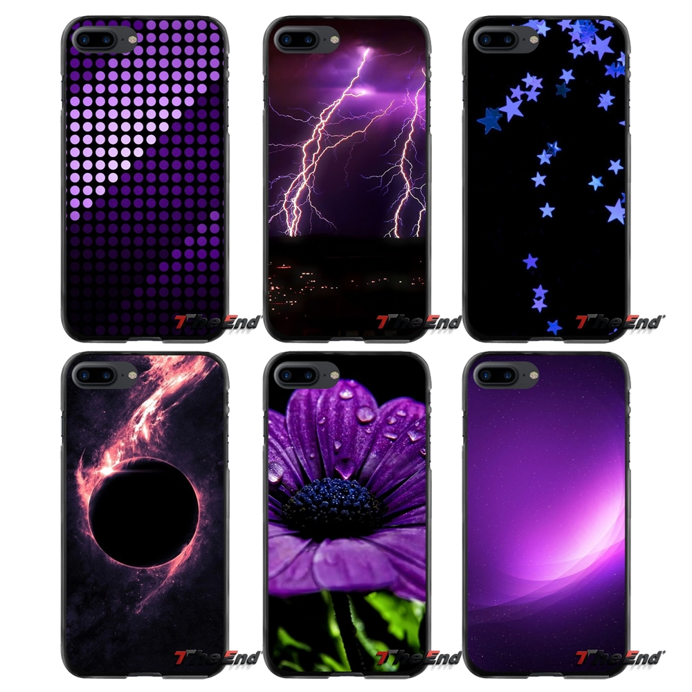 Black Purple Accessories Phone Shell Covers For Apple iPhone 4 4S 5 5S 5C SE 6 6S 7 8 Plus X iPod Touch 4 5 6