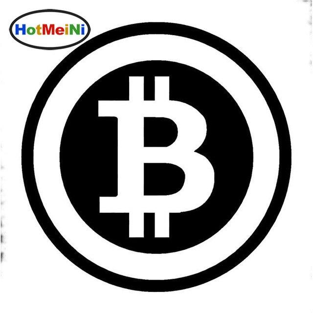 HotMeiNi 15*15cm Large Bitcoin Cryptocurrency Blockchain Freedom Car Sticker Vinyl  JDM Window Decal Styling Black/Sliver