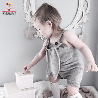 KAMIMI 2017 Antumn New Rabbit Knitting Baby Romper Soft 100 Cotton Jumpsuit Newborn Cute Infant Clothes