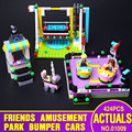 Lepin 01009 Girl Series Friends Bumper Cars Amusement Park Building Assembling Block Gift Toys Compatible 41133