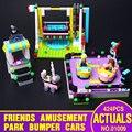 Lepin 01009 girl series amigos bumper cars montaje de bloques de construcción del parque de atracciones juguetes de regalo compatible 41133