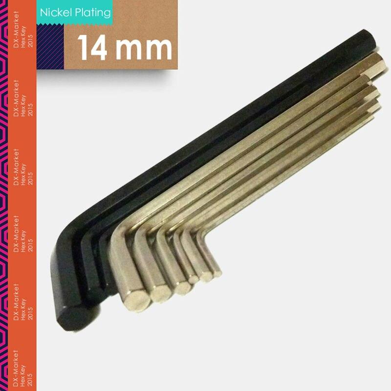 14 мм шестигранного ключа легированной стали инструменты, M14 покрытие никелем шестигранных ключей Разъем, высокой твердостью Изготовление К...