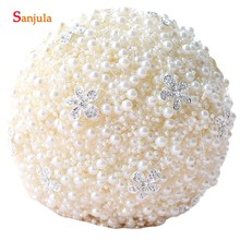 Pearls Wedding Bouquet With Crystal Flowers Luxury Craft Brides New Buque Casamento P016