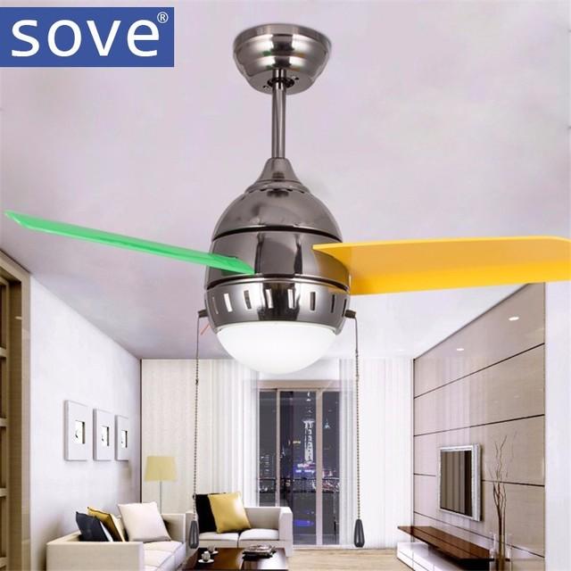 36 Zoll Moderne Ruhig Deckenventilator Kinderzimmer Deckenventilatoren Mit  Lichter Mini Fan Lampe Kinder Schlafzimmer Deckenleuchte Fan