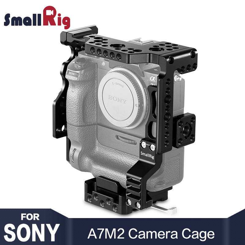 SmallRig A7M2 Camera Cage for Sony A7II / A7SII / A7RII with Battery Grip With Nato Rail Arri Locating holes for DIY Option 2031 цена и фото