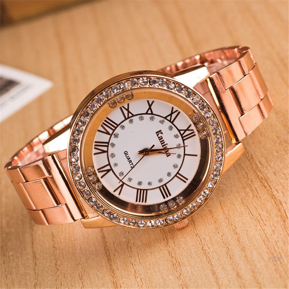 New Fashion Trend Roman Numerals Full Diamond Alloy Watch Men And Women Luxury Couple Unisex Watch Quartz Watch