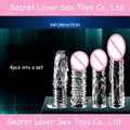 4pcs/lot silicone penis sleeve reusable condoms penis extension penis enlargement cream delay spray bomba peniana sex products.