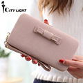 New arrival fashion wallets women long design cute Bowknot  large capacity lunch box ladies wallet purse clutch