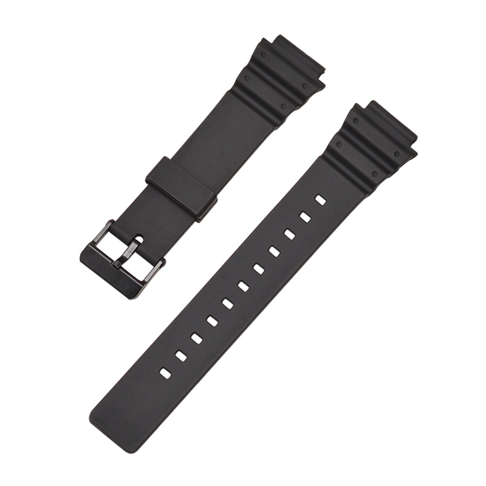 New 18mm Watchband Silicone Rubber Band Men Sports Strap For CASIO MRW 200H Replace 18mm Electronic Wristwatch Belt in Smart Accessories from Consumer Electronics