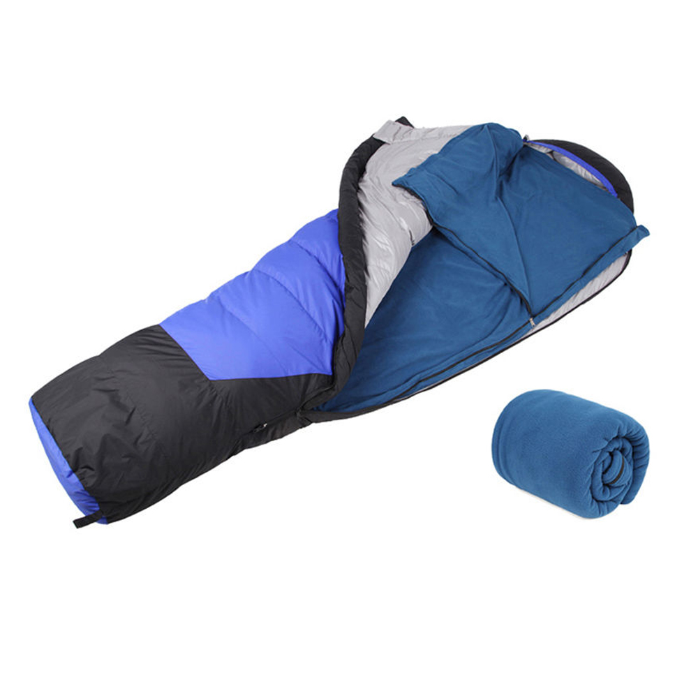 Outdoor Fleece Sleeping Bag Camping Hiking Climbing Walking Beach Sleeping Bags Travel Bags Multifuntion Ultra-light