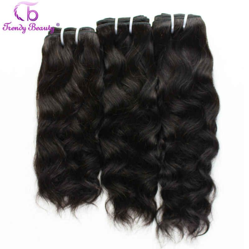 Trendy Schoonheid Haar Braziliaanse Natuurlijke Golf 4 Stuks Per Lot Natuurlijke Zwarte Kleur 8- 30 Inch Kan Worden Geverfd niet-Remy Hair Extensions