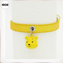 Christmas Basic Classic Padded Leather Pet Collars for Cats Puppy Small Medium Dogs