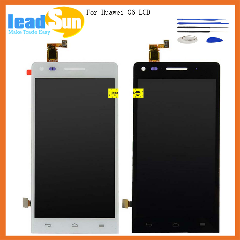 4.5 100%Tested Black/White color replacement for Huawei G6 LCD Screen Display with Touch Digitizer assembly with free tools
