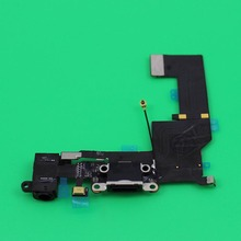 YuXi Charging Flex Cable for iPhone 5S Black White Replacement USB Port Audio Earphone Dock Connector Socket