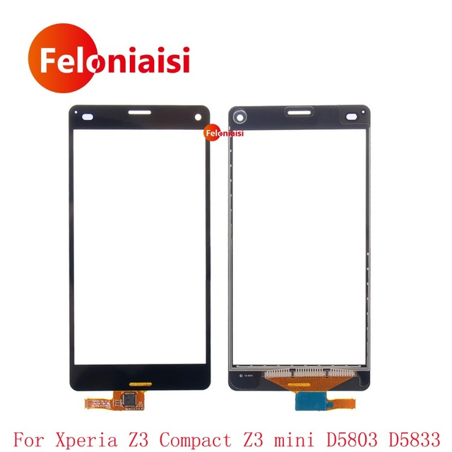 "50Pcs/lot High Quality 4.6"" For Sony Xperia Z3 Compact Z3 Mini D5803 D5833 Touch Screen Digitizer Sensor Outer Glass Lens Panel"
