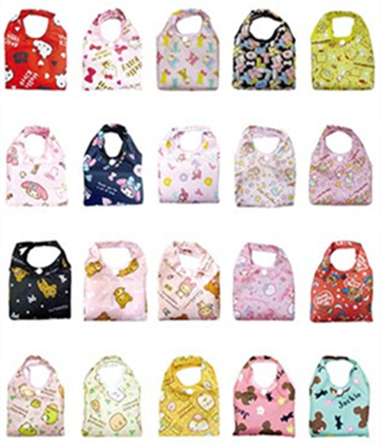 Cute Cartoon O Kitty Cat My Melody Nylon Folding Reusable Ping Bag Foldable Grocery Bags Ecobag
