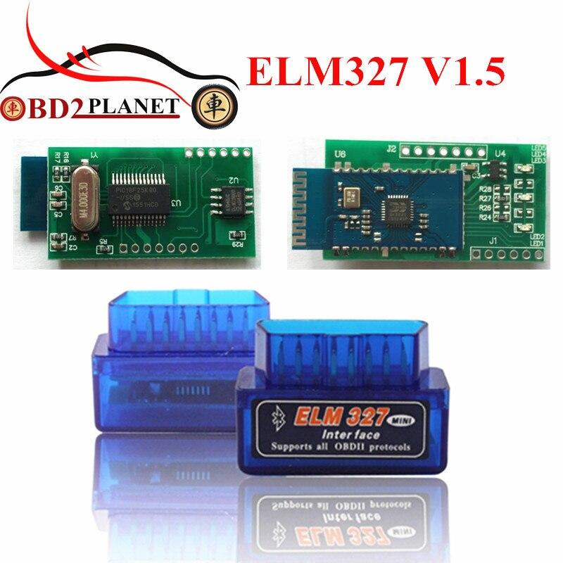 Fast Shipping Super Mini ELM327 OBD2 Bluetooth V1.5 ELM 327 PICI8F25K80 Mini Auto Car Diagnostic Interface Scanner Accessories