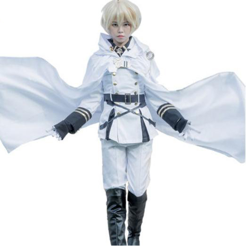 New Seraph Of The End Cos Mikaela Hyakuya Cosplay Costume Full Sets Uniform