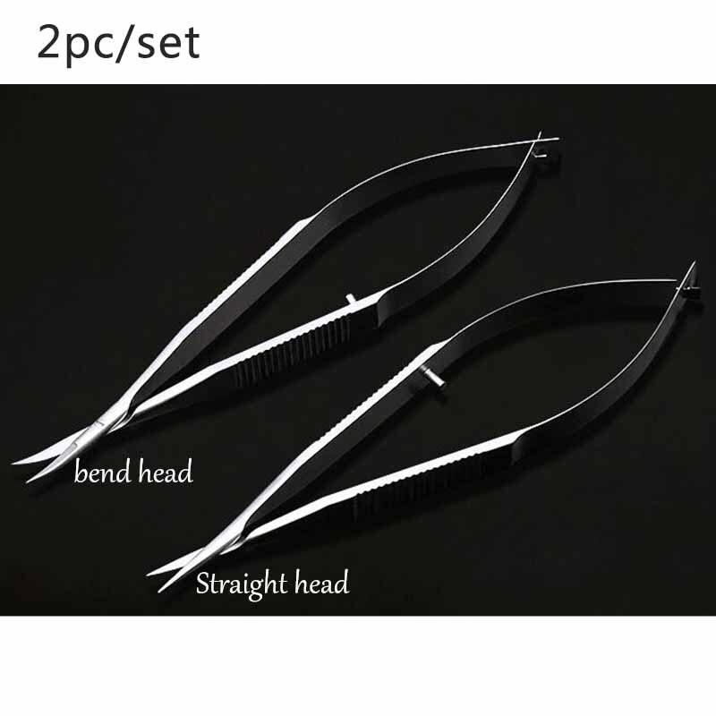 العادية الفولاذ المقاوم للصدأ أداة العيون 12.5 cm مايكرو مقص ، مستقيم/بيند رئيس الملتحمة مقص ، بالمنظار الملقط