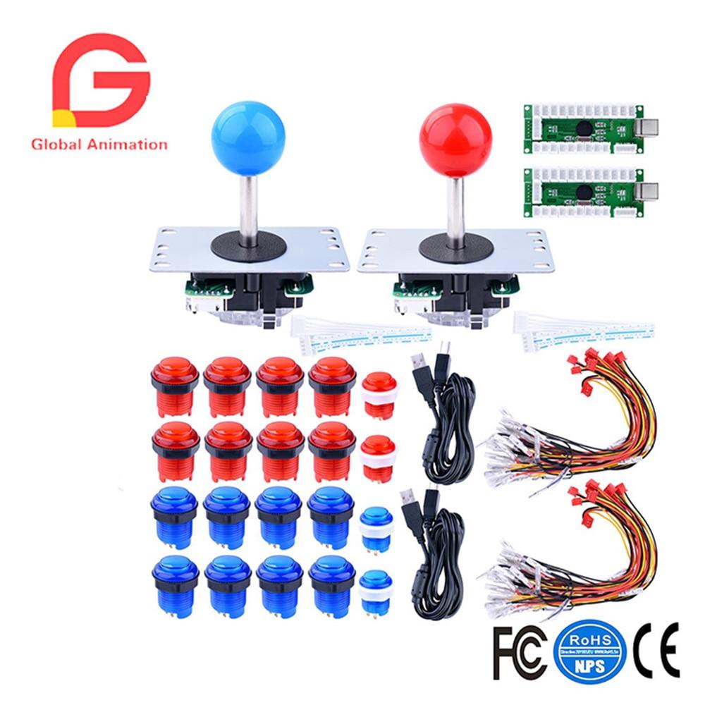 For Raspberry Pi 3 2 model B Retropie LED Arcade DIY Parts 2x Zero Delay USB