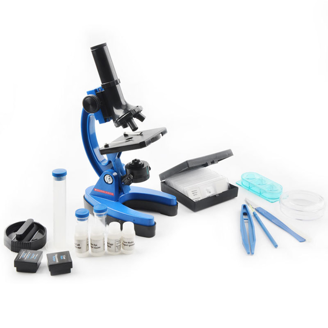 Durable des Élèves de Laboratoire 1200 Fois Enfants Métal Microscope Outil Kit Ensemble Enfants L'apprentissage Précoce de L'éducation La Science Jouets cadeau - 4