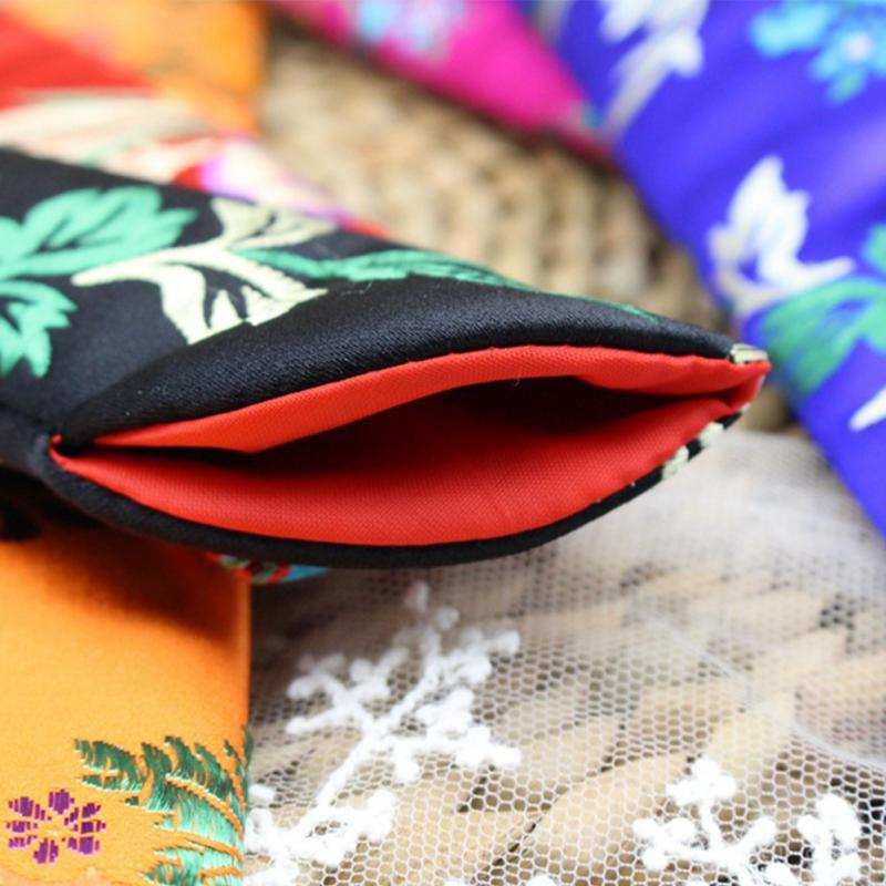 NEW Fashion Printing Folding Hand Fan Pouch Cover Case Soft Silk Fabrics Fan Protect Bags Skin Home DIY Decoration Art Crafts