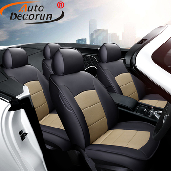 AutoDecorun Genuine Leather Seat Covers for Land Rover Range Rover Accessories Seat Cover Sets Car Cushions Protectors 2005-2019