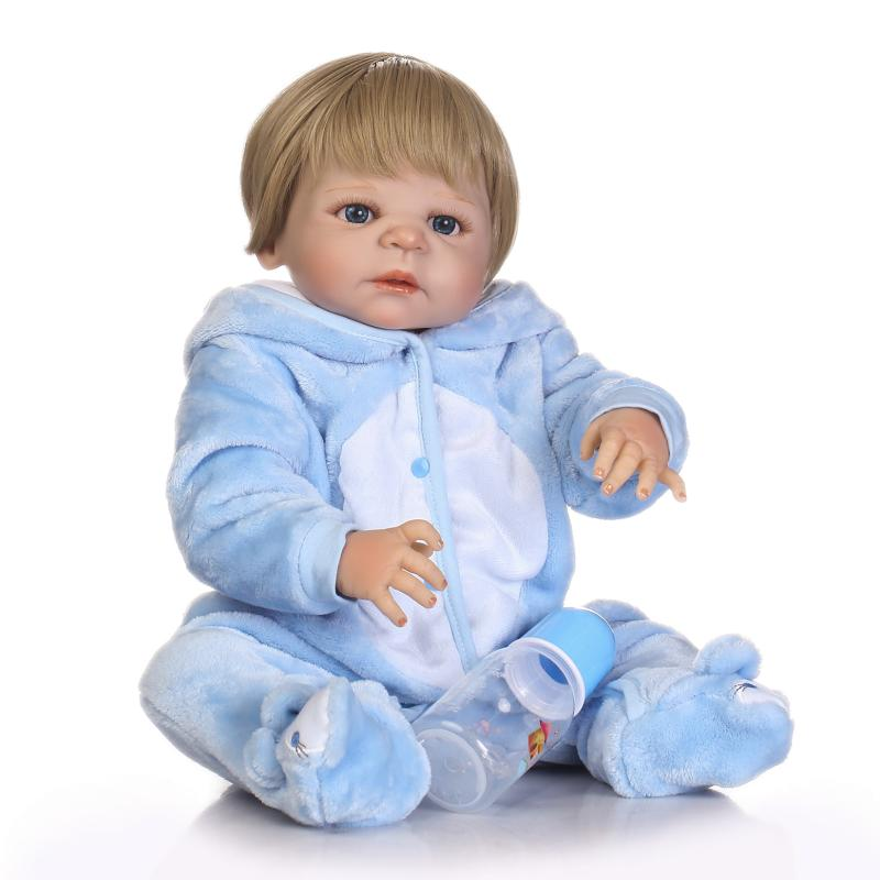 NPKCOLLECTION 55cm Full body silicone reborn baby doll toys lifelike newborn boy babies kids child bebe gift reborn bonecas 57cm full silicone shower doll reborn baby boy doll kids playmate gift handmade lifelike bebe juguetes babies toys for bouquets
