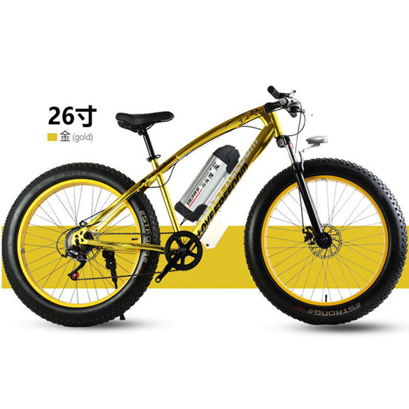 26 inch snowfield electric font b bicycle b font lithium electric mountain vehicle electric beach vehicle