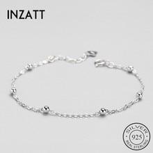 Bracelet Bead-Chain Birthday-Party-Accessories INZATT 925-Sterling-Silver Fine-Jewelry