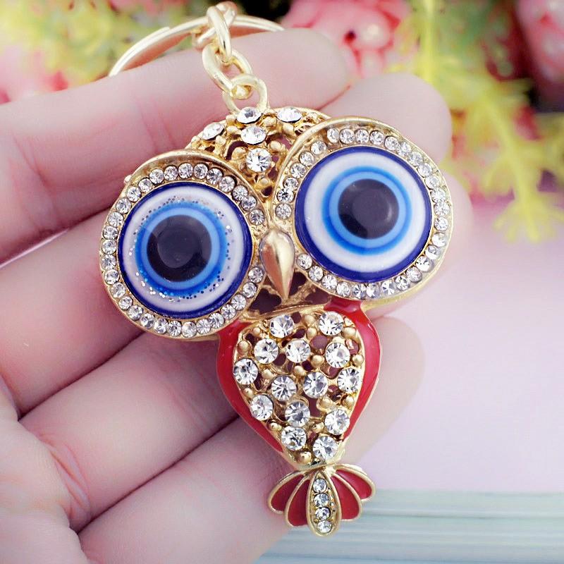 Owl Big Porcelain Eyes Keychains