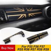 Otomobiller ve Motosikletler'ten İç Profiller'de Araba Dashboard Enstrüman Trim Paneli Kapak Sticker Iç Dekorasyon Mini Cooper S One Için R55 R56 R57 R58 F55 F56 aksesuarları