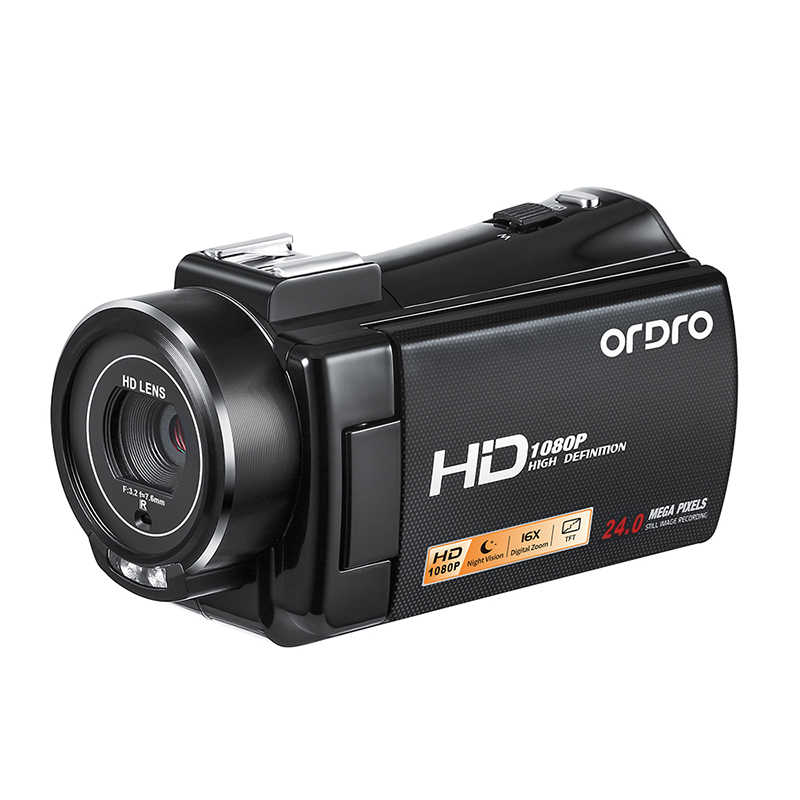 Ordro HDV-V7 Plus 1080P Digital Camera 3.0 inch IR Night Vision Professional Camcorder Remote Control Video Cameras