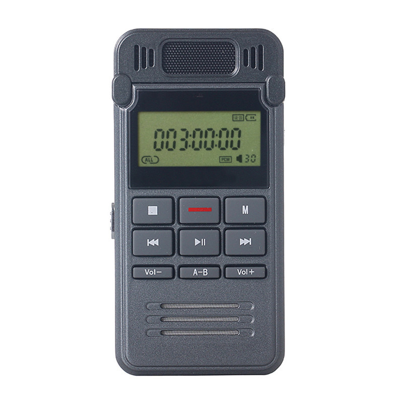 8GB Noise Reduction High-definition Digital Audio Voice Recorder Dictaphone Telephone Recording with LCD Display MP3 Player