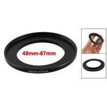 EDT-Объектив Камеры Фильтра Step Up Кольцо 49 мм-67 мм Адаптер Черный