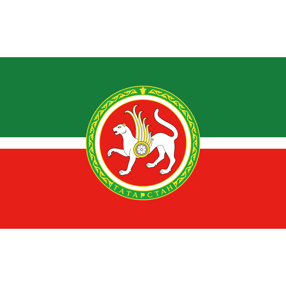 republic of tatarstan with coat of arms ak bars flag 150x90cm 3x5ft