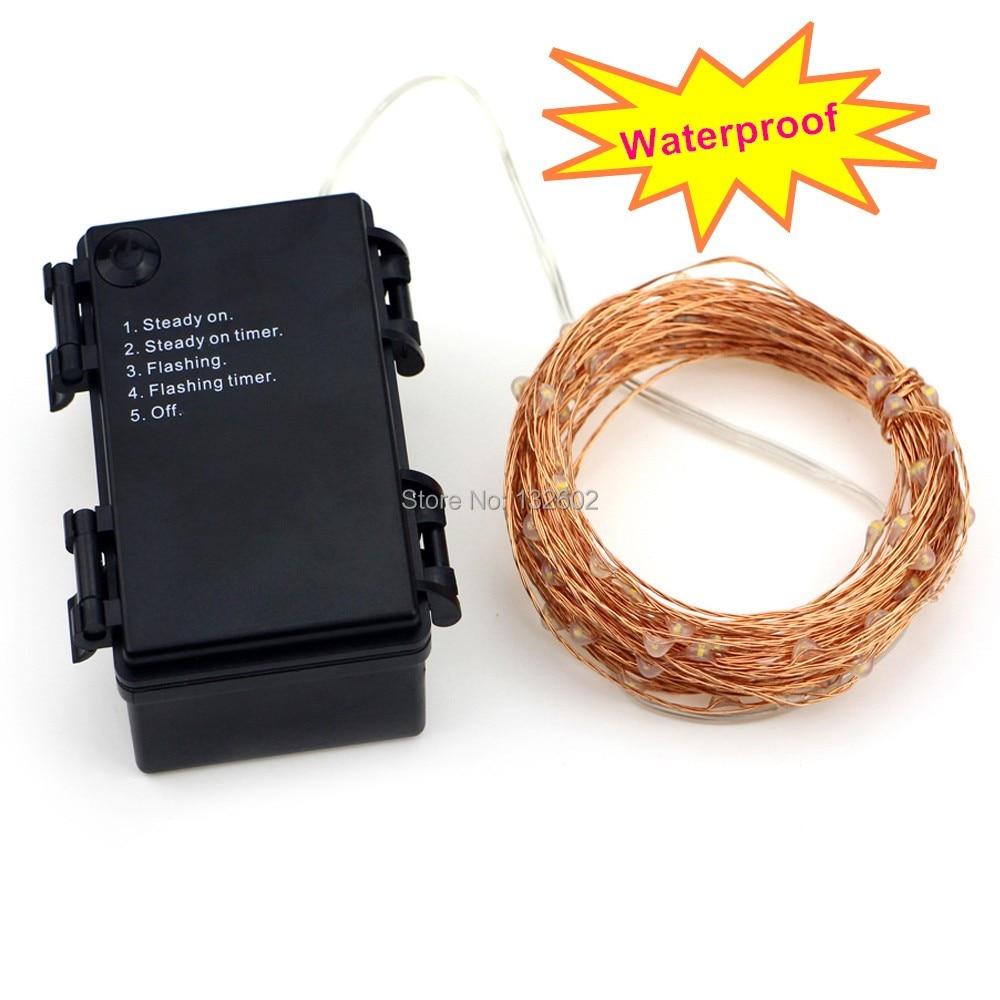 6m / 10m / 12m / 20m 5Modes 6AA Batteri Använd LED Stränglampor - Festlig belysning - Foto 5