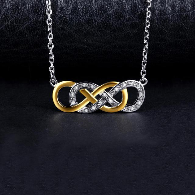 Infinity CZ Sterling Silver Pendant