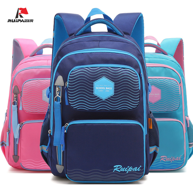 Ruipai Korean school backpack for girl letter printing large capacity school bags Students Waterproof Pure color