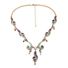 Women's Colorful Choker Charm Crystal Flowers Sweaters Necklace gargantilha collier Jewelry Gifts